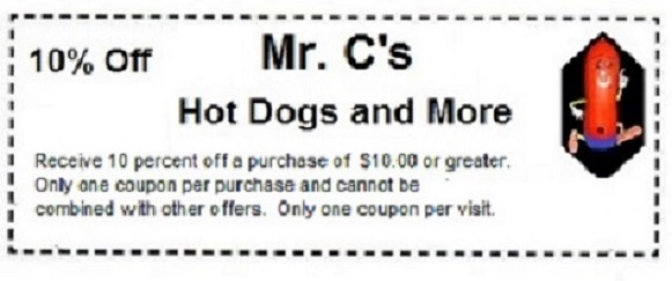 Coupons Hot Dogs Elgin Illinois